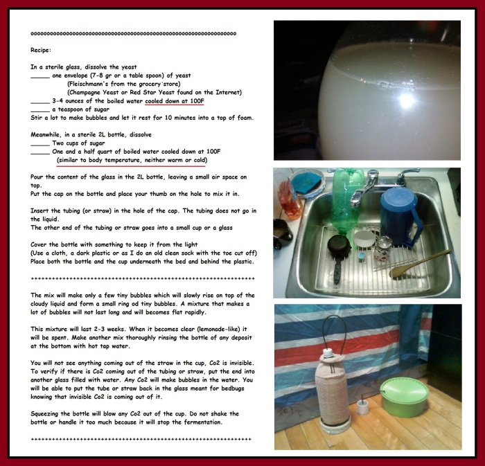 C02  bedbug trap __ Recipe